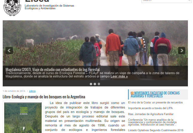 Portal web del LISEA